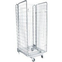Supermarket Roll Cages /Storage Cage /Steel Wire Mesh Containers