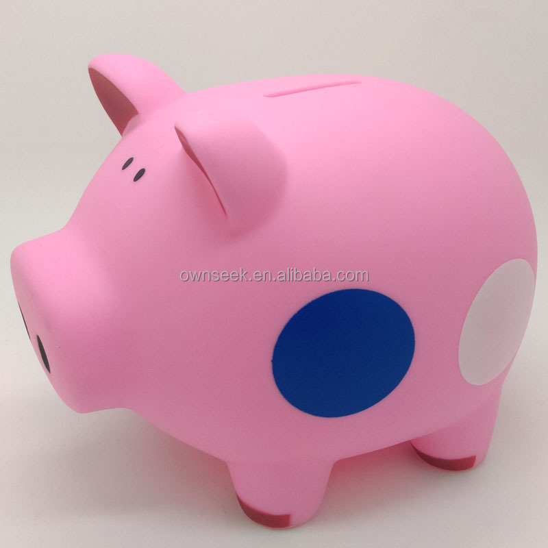 2015 Whole Sale Personalized Plastic Piggy Bank Kids