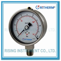 All stainless steel liquid filled wika pressure gauge