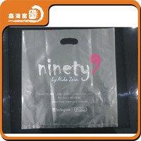 custom logo cheap hdpe plastic shopping bags