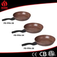 2015 factory price 28cm die cast aluminium ceramic frying pan