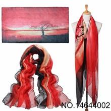 Sunset Glow Style Wholesale Women Silk Big Shawl