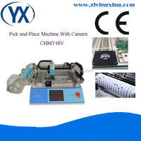 CHMT48V Small Manufacturing Ideas Pick Up IC Smt Line Machine Pcb Assembly Machine