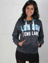 2012 the newly style London Olympics Custom designs zipper-up long sleeve fleece printed sweatshirt hooides and shirts
