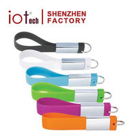 New Popular Gift Silicone Metal Lanyard Shape Drive USB 3.0 Flash Memory with 16GB