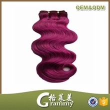 100% russian hair weave russian hair extensions crazy colored burgundy human hair extension