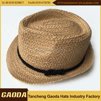 Hot Sale Natural Raffia Braid Summer Fedora Hats