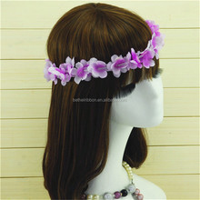 Quality best sell polyester hawaii flower leis