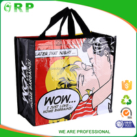 Cutomized various styles printable reusable vest shopping bag
