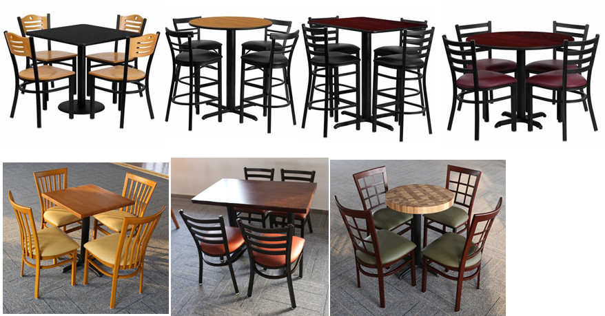 Dg q b r cheap metal used restaurant table and chair