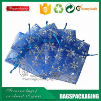 wholesale custom size drawstring organza christmas gift bag