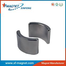 TS16949 certification Arc segment Neodymium motor magnet N45SH