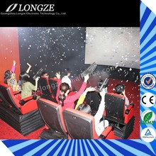 China Great Fun Hydraulic/Electronic Game Machine 7D Cinema Simulator with shooting games
