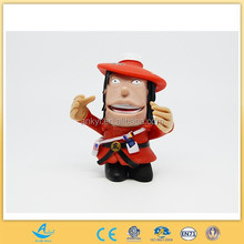 custom made cartoon plastic toys pirate commander with big mouth