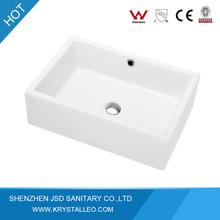 CUPC approved countertop white ceramic art basin