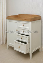 (W-BB-119) solid pine wood baby changing chest