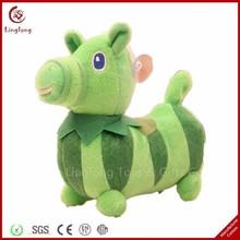 6 inches rare plush green alpaca with short legs stuffed cartoon alpaca doll soft cartoon animal throw pillow