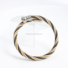 Stainless Steel Druzy Gold Bangles Latest Design Three Color Jewelry 2015