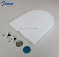 European UF hydraulic soft close toilet seat with quick release