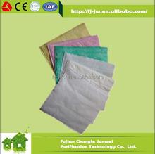 JW Non-woven Bag Fabric, Medium Filter Felt, Synthetic Pocket Filter Media F5 F6 F7 F8 F9