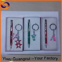 New design metal keychain pen set