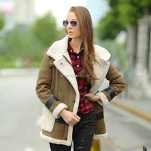 Veri Gude 2015 winter new arrival women's suede warm coat
