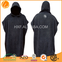 2015 wholesale custom OEM China cheap promotion hotsale high qualit cotton adult hooded poncho beach towel Durable Solid color