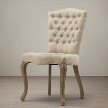 2015 New Model Vintage furniture French style solid wood frame buttun dining chair