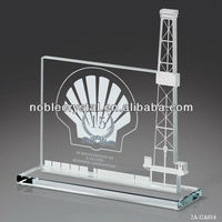 Crystal Oil Rig Platform Award Gift