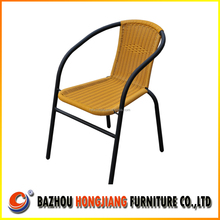 low price outdoor steel wicker stacking chair
