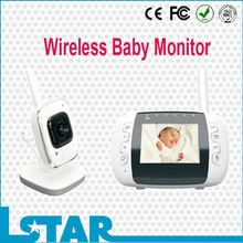 Digital video baby monitor, 2.4GHz best baby monitors uk with Two Way Audio and Temperature Alarm and TV out function