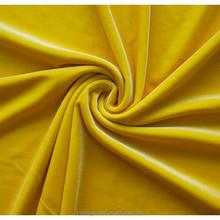 Shiny spandex stretch velvet fabric/four-way stretch