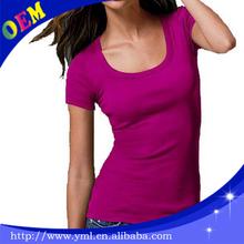 Wholesale blank stretch 95 cotton 5 spandex t shirts women