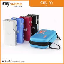 smy 90w 2015 temperature portection chip mod, ego yard leather vape bag/