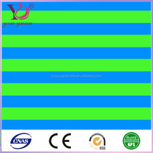 Wholesale blue green stripe printed nylon spandex swimwear fabric/beachwear/underwear fabtic