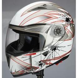 DOT dual visor modular motorcycle flip up helmet