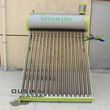 Green energy low pressure solar water heater with assistant tank
