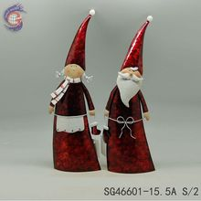 wholesale supplies metal figures of couple for christmas decoration