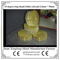 wooden fencing coil nail for Pneumatic gun