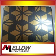 Mellow SS 304 201 Stainless Steel Etching Color Sheets Mirror For Elevator Cheaper Price