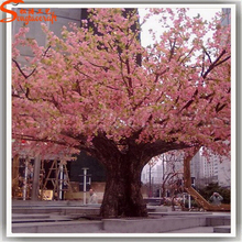 2015 new products China artificial plastic flower trees cherry peach pink blossoms decorative recycling plant home deocr