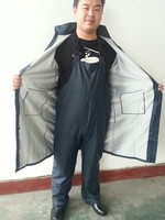 PVC Raincoat made of waterproof coated PVC fabric rain suit for motorcycle