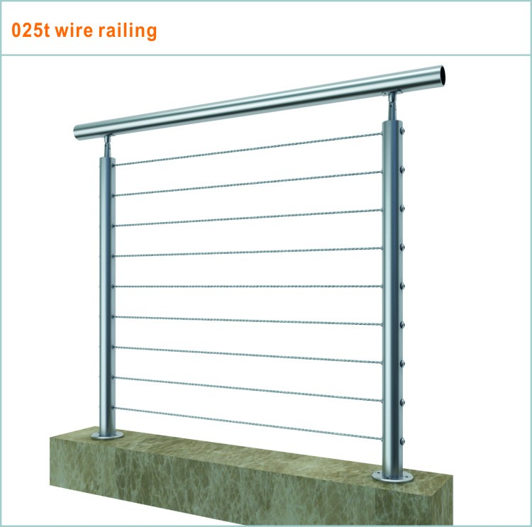 low price cable deck rail with stainless steel wire fitting
