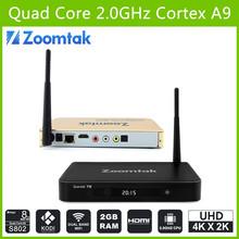 Quad core Android 4.4 Zoomtak T8 Aml S802 quad core google 4k tv box KODI 14.2 smart TV Box Support dual band wifi 2.4/5.8GHz