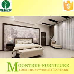 Moontree MBR-1390 burma teak cleaning wood veneer bedroom furniture