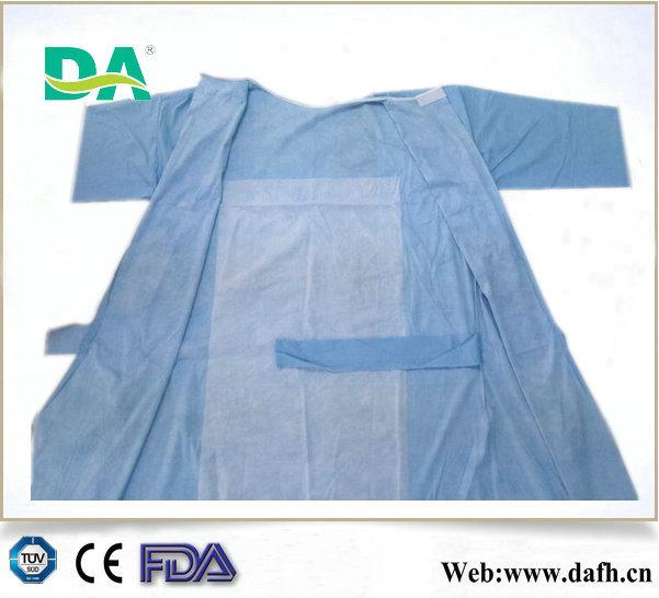 Alkole dirençli 3- Anti takviyeli spunlace cerrahi önlük