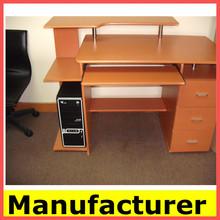 hot sale morden wooden office height adjustable computer desk/table