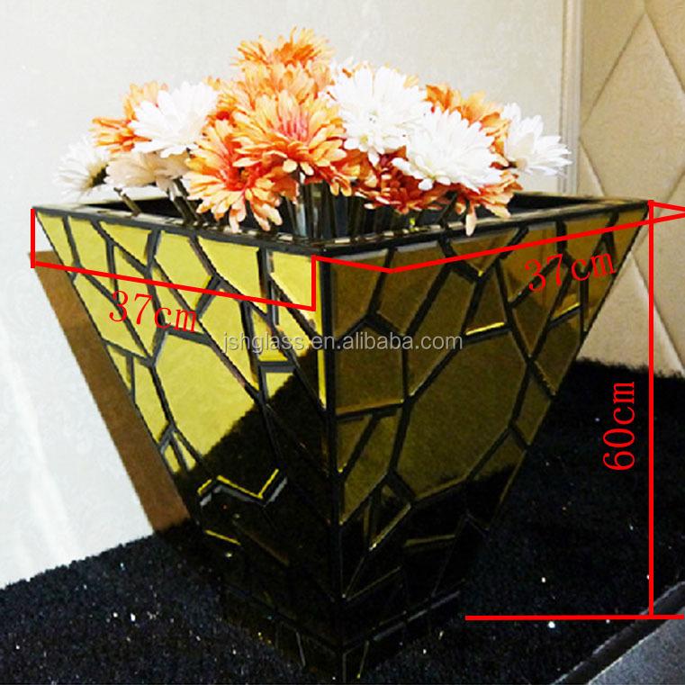 Nsv mirrored panel decorative vase desk carbinet