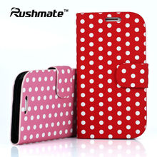 For Samsung Galaxy S3 III i9300 Polka Dot Wallet Book Mobile Cover Leather Phone Case