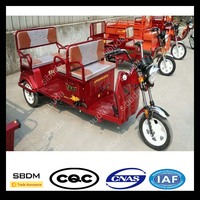 SBDM Motorcycle Electric Tricycle Pedal Assisted With Passenger Seat